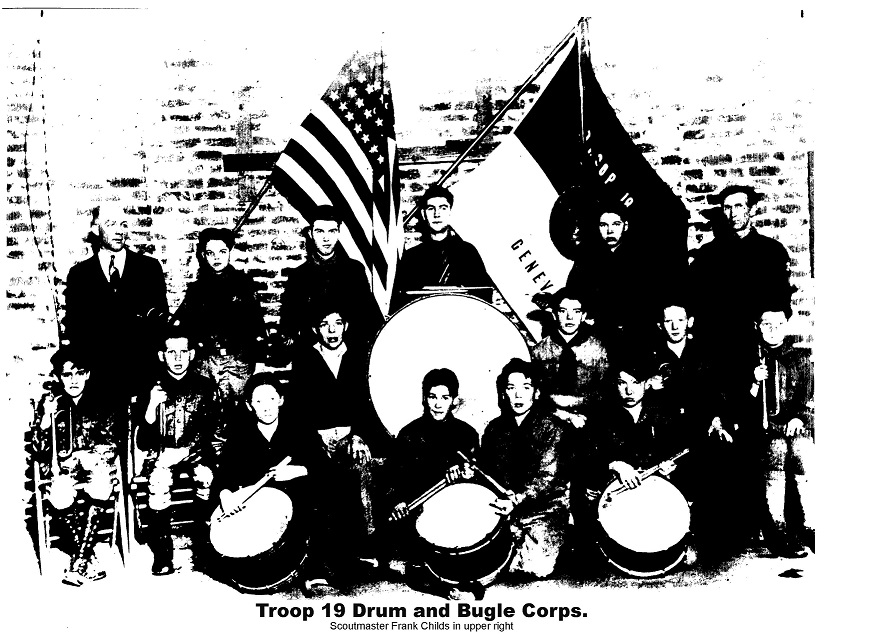Troop 19 Drum & Bugle Corps circa 1930s.